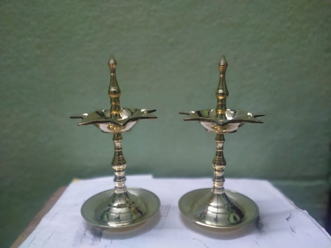Brass 7-face Lamps