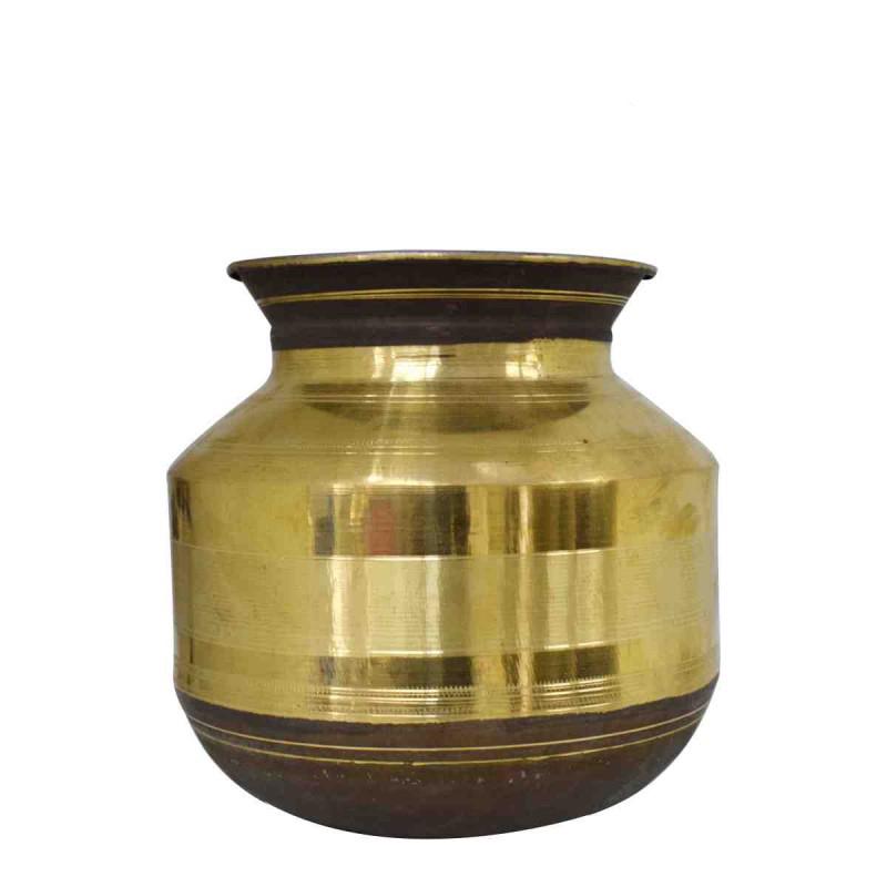 kumbakonam traditional brass pongal pot paanai thavalai
