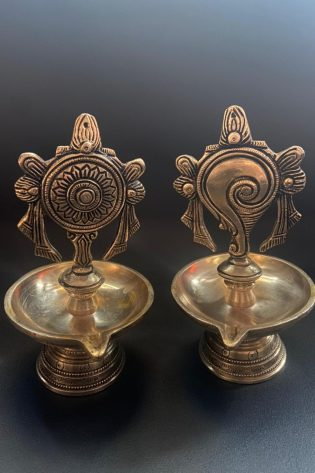Sangu Chakra Lamps Brass Antique